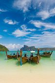 stock photo of phi phi  - Paradise beach of Koh Phi Phi in Thailand - JPG