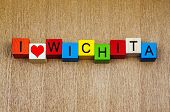 stock photo of kansas  - I Love Wichita - JPG