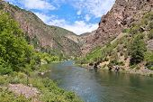 image of gneiss  - Black Canyon of the Gunnison National Park in Colorado USA - JPG