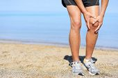 stock photo of knee  - Running injury  - JPG