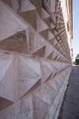 stock photo of ferrara  - Wall Texture Of The Diamonds Palace In Ferrara - JPG