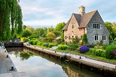 stock photo of isis  - Iffley Lock on the River Thames - JPG