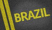 picture of bandeiras  - Brazil written on the road - JPG