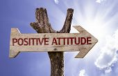 image of feeling better  - Positive Attitude wooden sign on a beautiful day - JPG