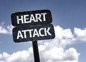stock photo of breast-stroke  - Heart Attack sign with clouds and sky background - JPG