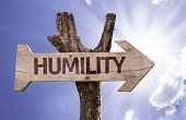 picture of humility  - Humility wooden sign on a beautiful day  - JPG