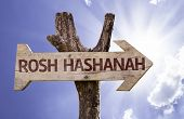 picture of tora  - Rosh Hashanah sign with sky background - JPG
