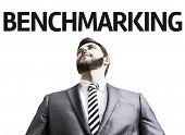 pic of benchmarking  - Business man with the text Benchmarking in a concept image - JPG
