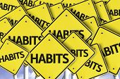 stock photo of  habits  - Habits written on multiple road sign - JPG