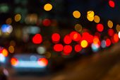 foto of heptagon  - Photo of bokeh street traffic lights as background
