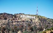 picture of blue angels  - LOS ANGELES - APRIL 22: Hollywood sign located on Mount Lee on April 22 2014 in Los Angeles California. It