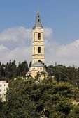 picture of ascension  - The clock and tower of the Ascension Church in East Jerusalem - JPG