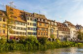 picture of alsatian  - Traditional Alsatian buildings over the Ill river in Strasbourg - JPG