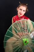 picture of geisha  - portrait of a girl in geisha style - JPG