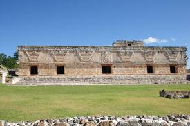 pic of quadrangles  - Ruins of the Nunnery Quadrangle Uxmal Mexico - JPG