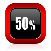 stock photo of 50s  - 50 percent icon sale sign  - JPG