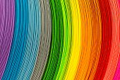 picture of strip  - Paper strips in rainbow colors as a colorful backdrop - JPG