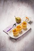 pic of french pastry  - french pastry with pear and ricotta - JPG