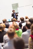 pic of entrepreneurship  - Speaker Giving a Talk at Business Meeting - JPG