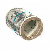 foto of 100 dollars dollar bill american paper money cash stack  - Roll of money - JPG