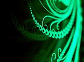 stock photo of scribes  - Highlighted laser engraving on glass surface abstract pattern design concept - JPG