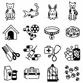 picture of bag-of-dog-food  - Pet animal icons showing toy - JPG