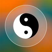 foto of ying-yang  - Ying yang icon - JPG