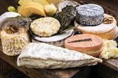 pic of brie cheese  - french cheese plate - JPG