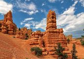 pic of rocking  - Geological structures called hoodoos - JPG
