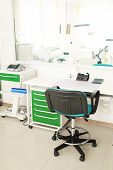 stock photo of overbite  - Desk doctor in dental clinic - JPG