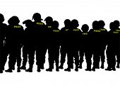 pic of special forces  - People of special police force on white background - JPG