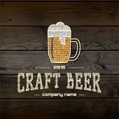 picture of wood craft  - Craft beer badges logos and labels for any use - JPG