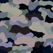 Постер, плакат: Seamless military camouflage texture Military background Military texture for textile