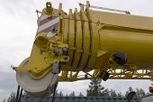image of boom-truck  - A close up with details on a industrial crane with electronics - JPG