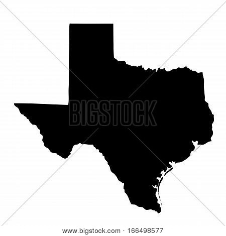 poster of map of the U.S. state of Texas