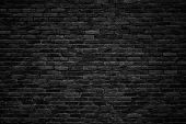 Black Brick Wall, Dark Background For Design poster