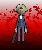 picture of festering  - Humorous image showing a cartoon zombie businessmen - JPG