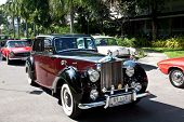 HUA HIN - DECEMBER 18: Rolls Royce Silver Down , 1949 year. Retro Car on Vintage Car Parade 2010 at