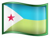 Djibouti Flag Icon. (With Clipping Path)