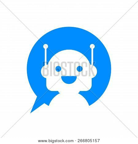 Robot Icon  Bot Sign Design  Chatbot Symbol Concept  Voice Support Service  Bot  Online Support Bot  poster