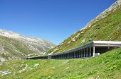 Road gallery at St. Gotthard pass, Switzerland