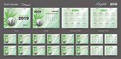 Set Desk Calendar 2019 Template Design Vector, Calendar 2020, 2021, 2022, 2023, Cover Design, Set Of poster