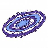 Galaxy Icon. Hand Drawn Illustration Of Galaxy Vector Icon For Web Design poster