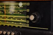 Old Soviet Radio With Frequencies For Spyware Listening, Closeup poster