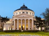 stock photo of neoclassical  - Romanian Athenaeum is Bucharest - JPG