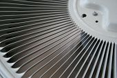 stock photo of air conditioner  - Abstract of a spinning air conditioner fan - JPG
