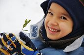 stock photo of frostbite  - kid snow - JPG