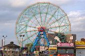 BROOKLYN - OCTOBER 25: The Wonder Wheel at the now defunct astroland at Coney Island October 25, 201