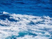 Ocean Wave. Natural background from Indian ocean. poster