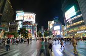 TOKYO, JAPAN - JULY 19: Shibuya crossing is one of the largest and most famed examples of a scramble